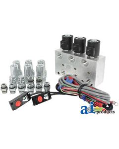 Hyd. Multiplier, 3 Circuit w/ Command Control/Couplers, 12VDC