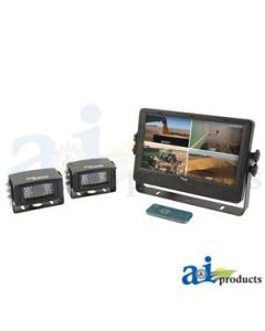 "CabCAM Video System, Quad (Includes 9"" Digital Touch Screen TFT LCD Monitor and 2 Cameras)"