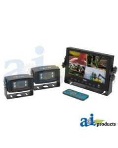 """CabCAM Video System, Quad (Includes 7"""" Digital Touch Screen LCD Monitor and 2 White Light Cameras)"""