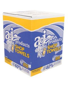 "Shop Towel, 10"" X 12""; Case Of 6, 200 Count Card Board Boxes"