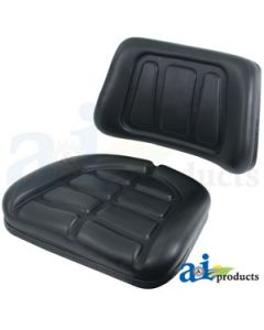 Seat Cushion Set, Trapezoid, Black
