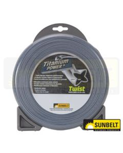 "Titanium Power Trimmer Line, .105"" twist"