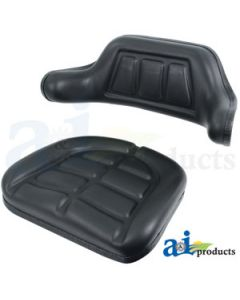 Seat Cushion Set, Wrap Around, Black