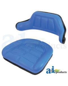 Seat Cushion Set, Wrap Around, Blue