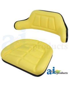 Seat Cushion Set, Wrap Around, Yellow